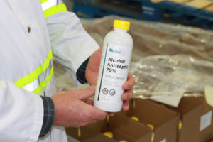Bioriginal producing BioTide sanitizers for health authorities and retailers
